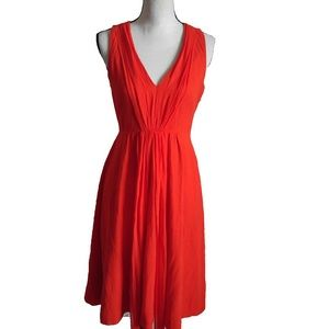 J.Crew Orange Fully Lined Dress.